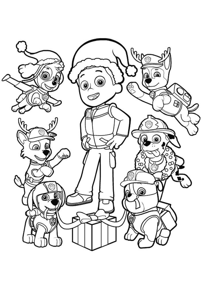 Christmas Paw Patrol Coloring Pages Paw Patrol Coloring Cartoon Coloring Pages Paw Patrol Christmas