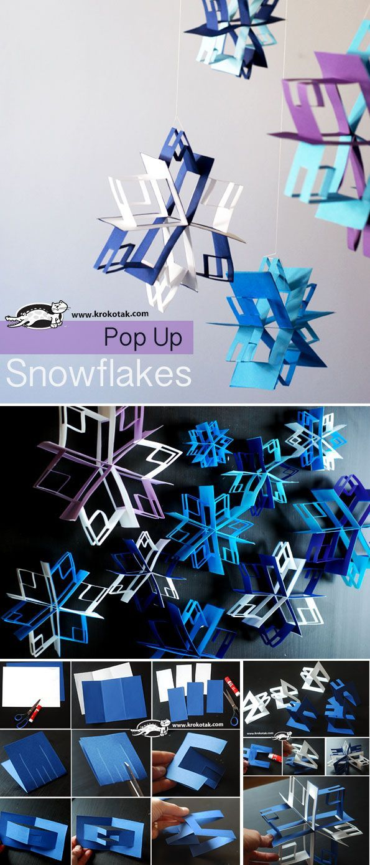Pop Up snowflakes