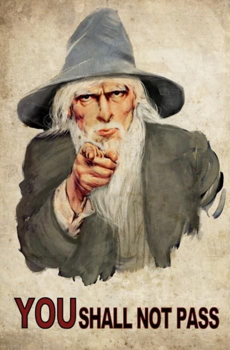 """previous poster said, """"Gandalf.  If I was a Teacher I would hang a poster of this up in my class.  Extra points if I was a Literature teacher."""" Mischief managed :D"""