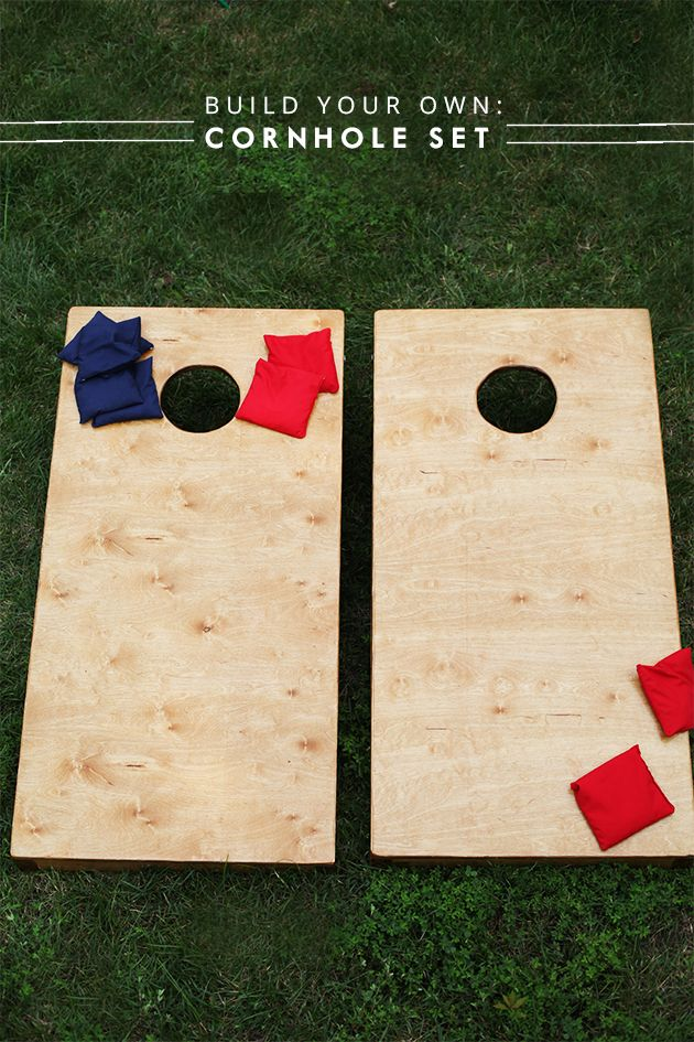DIY Wooden Cornhole Set