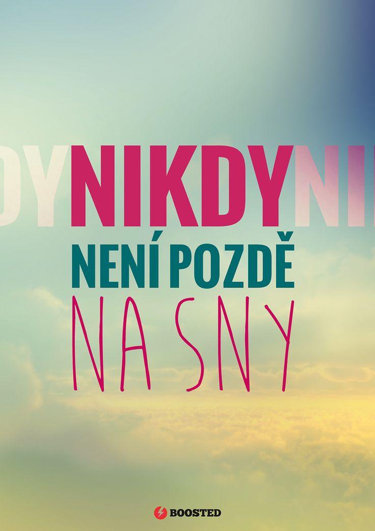 Motivační plakát Na sny není pozdě (Česky)