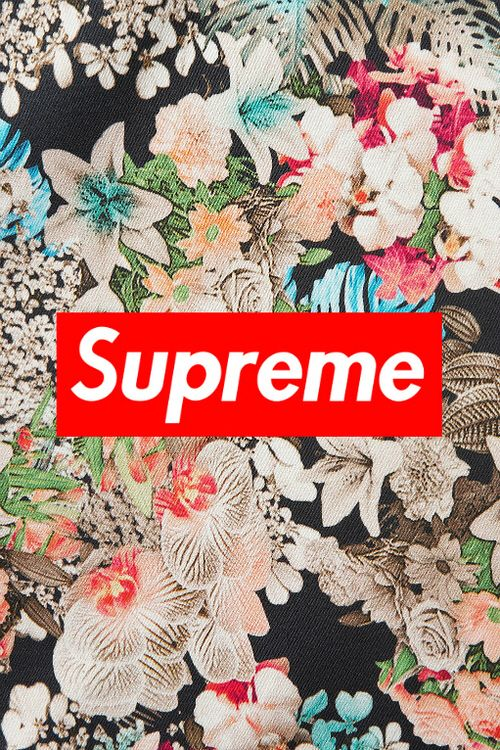 Supreme floral wallpaper