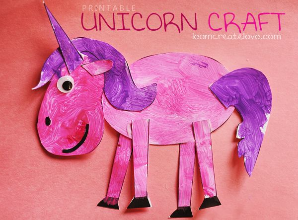 January story time for 3 year old class. Midnight Unicorn maybe. Fairy tale story time { Printable Unicorn Craft }