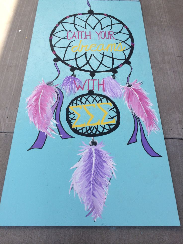 Sandwich board- sorority recruitment