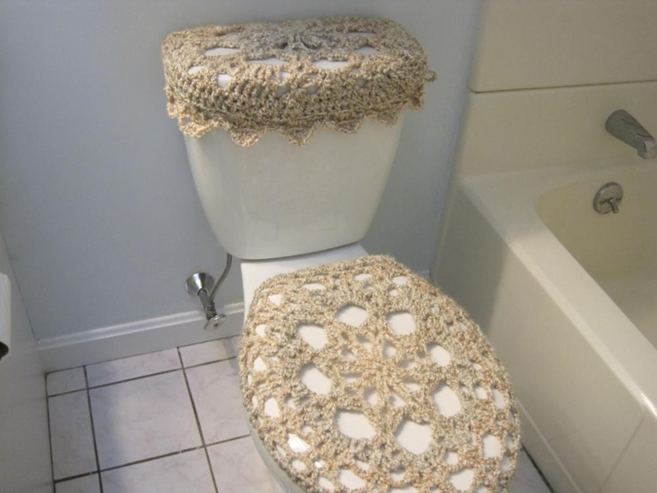 Set of 2 Crochet Covers for Toilet Seat & Toilet Tank Lid, Cozies