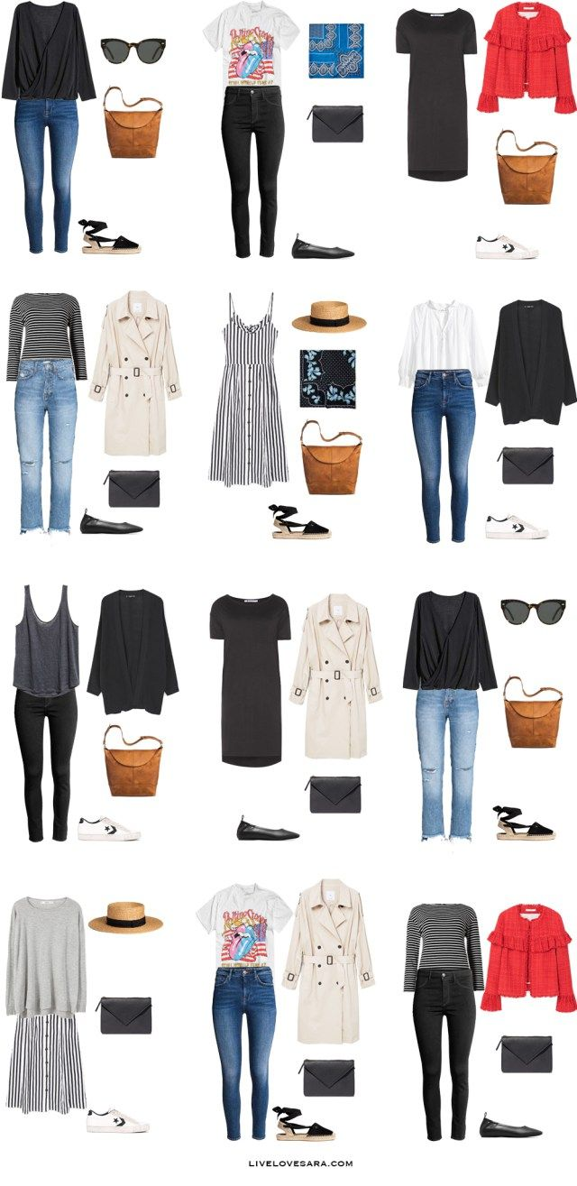 Packing list: 14 days in Stockholm, Sweden in Summer - What to wear: Outfit Options 2- livelovesara
