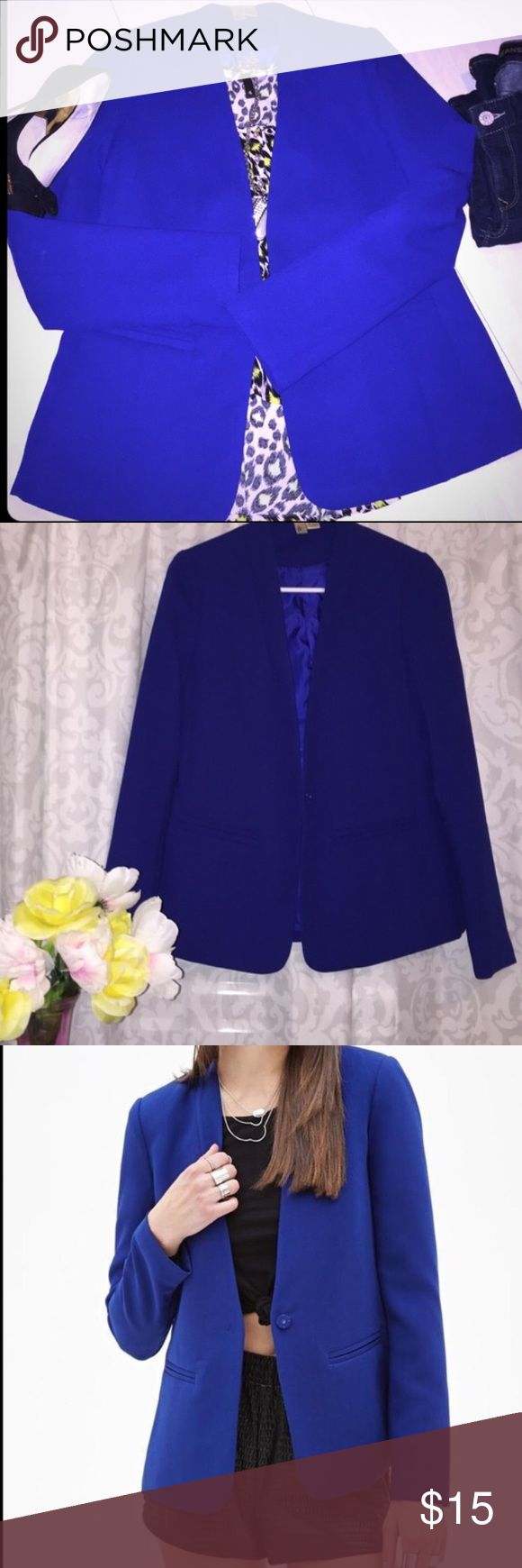 Forever 21 Royal Blue Blazer Forever 21 Royal Blue Blazer, absolutely gorgeous. Forever 21 Jackets & Coats Blazers