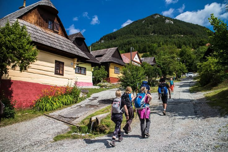 Nice and short hike to the peak Sidorovo, starts in the village Vlkolinec, which is part of UNESCO World Heritage