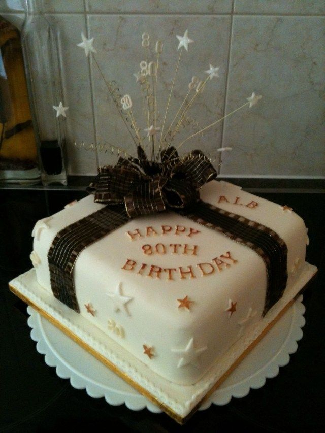 24 Inspiration Picture Of Birthday Cake 80 Year Old Man Black And Cream 80th For Men
