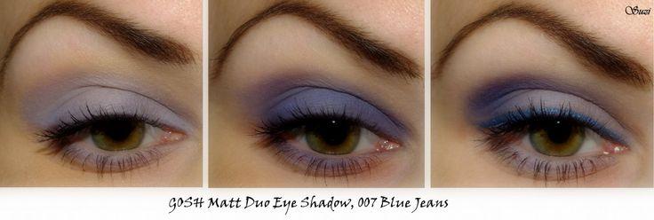 GOSH Matt Duo Eye Shadow on eyes - 007