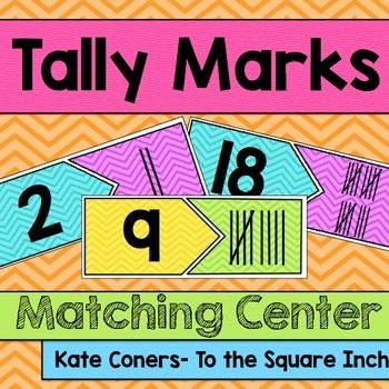 Tally Marks Matching Center Tally Mark Matching CenterIncluded in this product: 20 Tally Mark matching cards (1-20). (2 versions- Bright backgrounds and black and white)Students can match up the number and the corresponding number of tally marks. PERFECT for math workshop and centers.Check out my other counting centers, games, task cards and interactive notebook pages  HERE