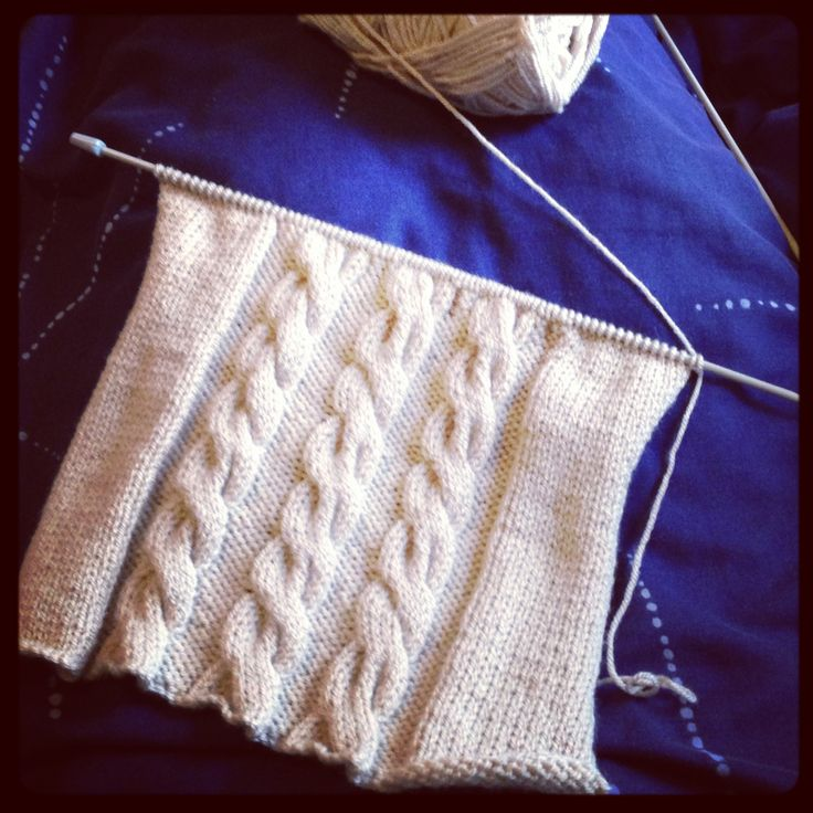 """Work in progress - 10 stitch cable knit, will eventually be a 13"""" cushion cover. #knitting #cable #cushion"""