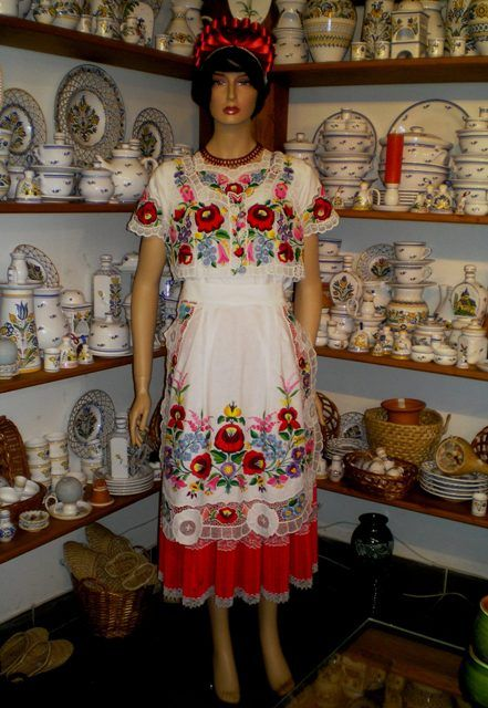 Folk dress from Kalocsa for woman (S, M, L, XL, XXL).