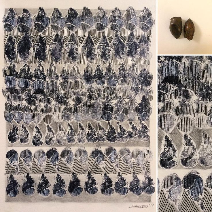 'Horse Chestnut Bud' #horsechestnut #chestnut #bud #spring #patchwork #ink #printing #patterns #natural #natureart #organic #emergingartist #newart #repetition #shapes #monochrome #artistsofinstagram #cbreen #artist
