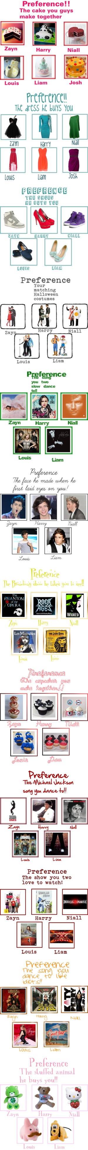 """One Direction Preferences I made!!"" by danielleabit0feverything ❤ liked on Polyvore"