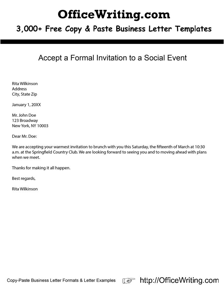 How Should You Decline a Formal Invitation?