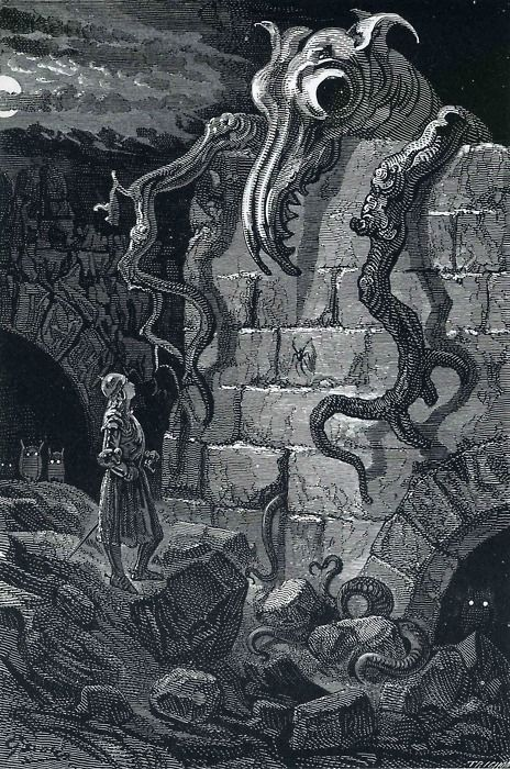 The Gnarled Monster by Gustav Doré, an illustration from Don Quixote.