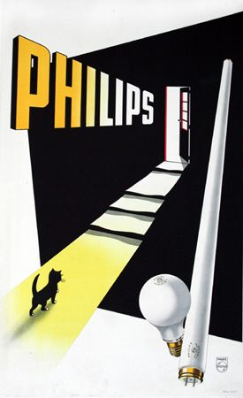 Philips Vintage Advertising Poster, c. 1950