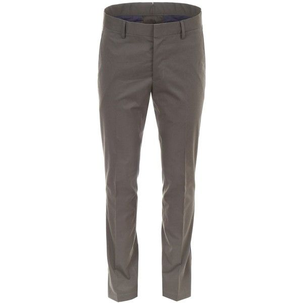 Slim Chino Trousers ($380) ❤ liked on Polyvore featuring men's fashion, men's clothing, men's pants, men's casual pants, mens lightweight cotton pants, mens slim pants, mens slim fit chino pants, mens chino pants and mens chinos pants