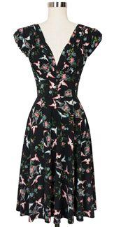 Trashy Diva 1940's Dress cg-d03-lovebirds