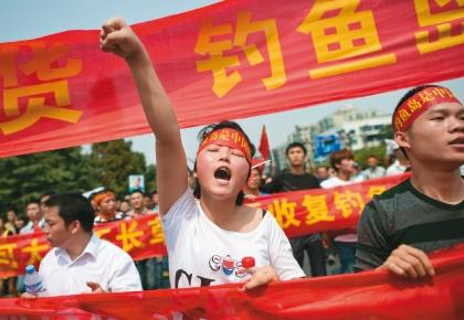 Protestas en China por las intenciones japonesas de apropiarse de las islas Senkaku.