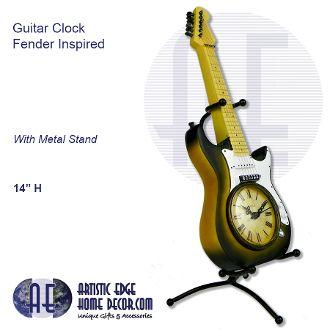 Guitar Clock Fender Inspired
