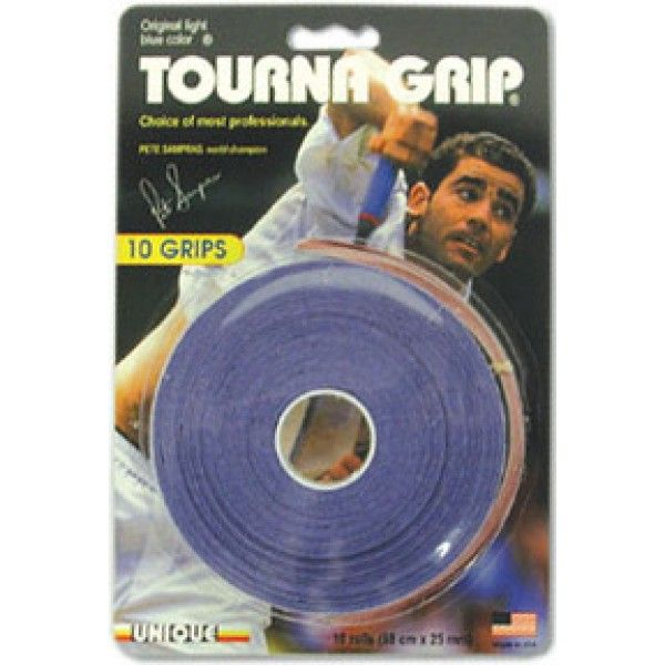 Always see pros using a blue overgrip? It's this stuff. Give it a shot! Perfect for sweat absorption and provides the ultimate feel for those touch shots. Next time you watch the tennis look out for it! Tourna Grips available at Tennis Warehouse Australia now in 3, 10 and 30 packs!