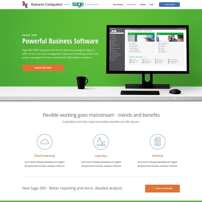 Lead Generating Landing Page for Accounts Software Reseller by ElegantDesigns.me