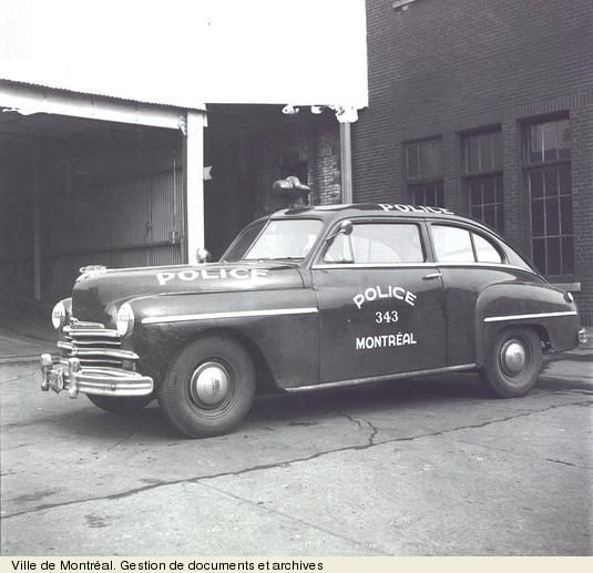 Montreal Police Car in 1951