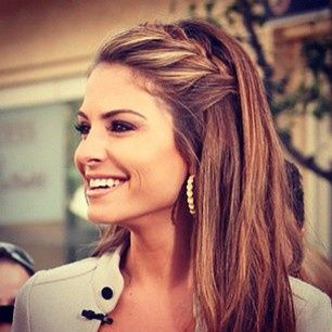 side half braid - Click image to find more Hair & Beauty Pinterest pins
