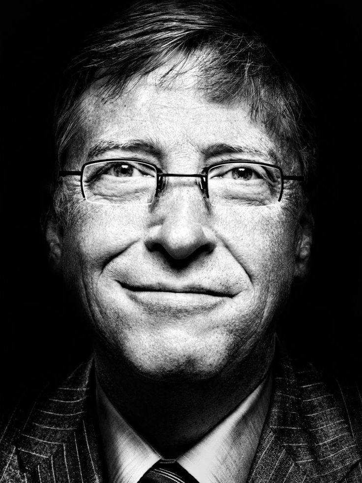 Bill Gates (1955) - American business magnate, philanthropist, investor, computer programmer, and inventor. Photo by Platon