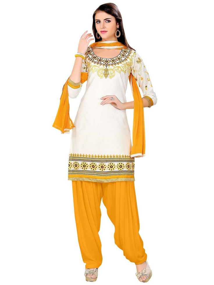 Entirely different looking outfit with fashionable staple.  Item Code: SLANA10006K http://www.bharatplaza.com/new-arrivals/salwar-kameez.html