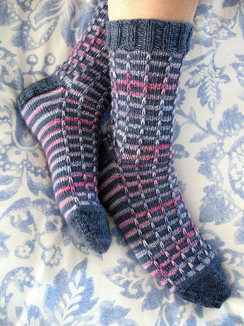 Prism socks pattern by Jaya Srikrishnan