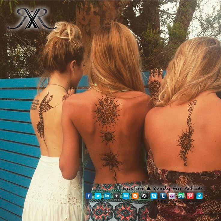 Bom dia gente linda!! Olhem só a linda tendências que vai invadir este verão.. As tatuagens nas costas!! Não vão correr para fazer uma tatuagem pois não são necessariamente permanentes, podem ser temporárias, ficam lindamente e ao mesmo tempo não fica vulgar. O que vocês acham?  http://www.rostore.eu/pt/