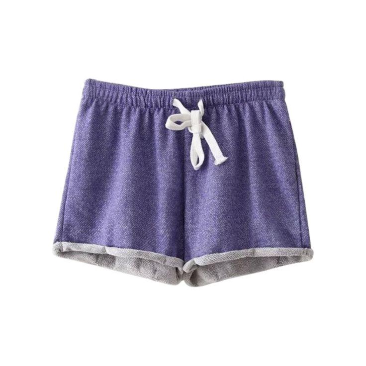 2016 Nueva Summer Casual Algodón Negro Corto de Talle Alto Shorts Femininos Mujeres Cortos de Entrenamiento Más El Tamaño