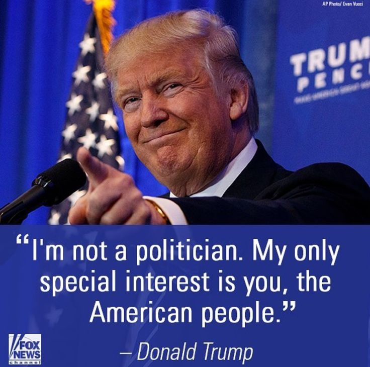 American's first not big donors and special interest groups! Vote Trump!