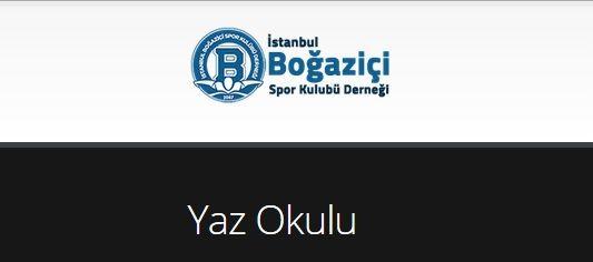İstanbul Boğaziçi Spor Kulübü Derneği Yaz Okulu 2015