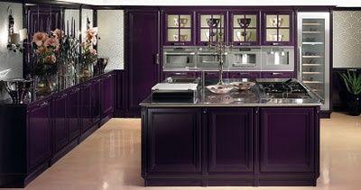 87 best pretty purple kitchens images on pinterest for Aubergine kitchen cabinets