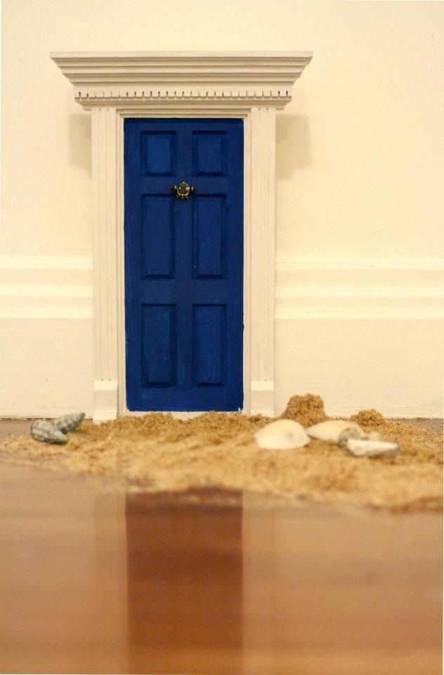 Fairies have been to the beach or did a mermaid stop by for The little fairy door