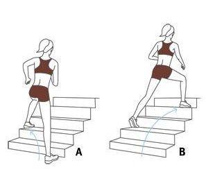 15 minutos de ejercicios en escalera para mantenerse en forma