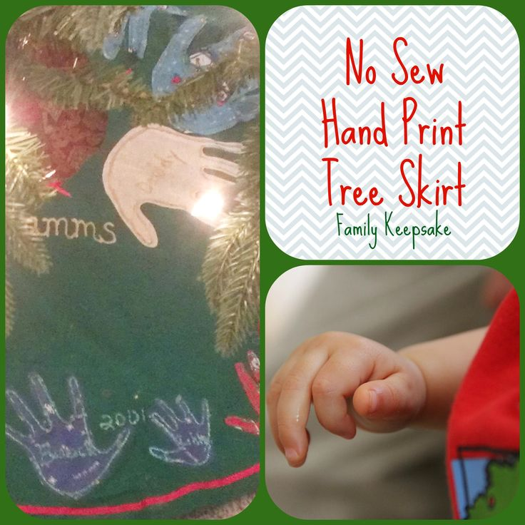 How to Make a Hand Print Tree Skirt for a Family Keepsake - Add Hand Prints As They Grow!
