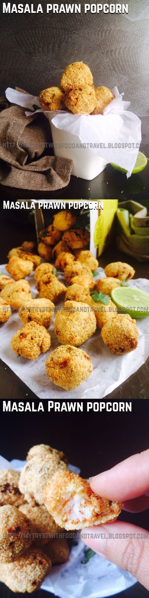 Masala Prawn Popcorn the perfect tongue  tickler of an appetizer to pep up those kiddie parties and the upcoming super bowl.