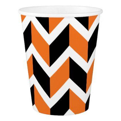 Halloween Chevrons Paper Cup - halloween decor diy cyo personalize unique party