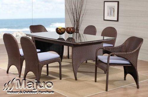 Set Furniture Rotan Ruang Makan | Kursi Rotan