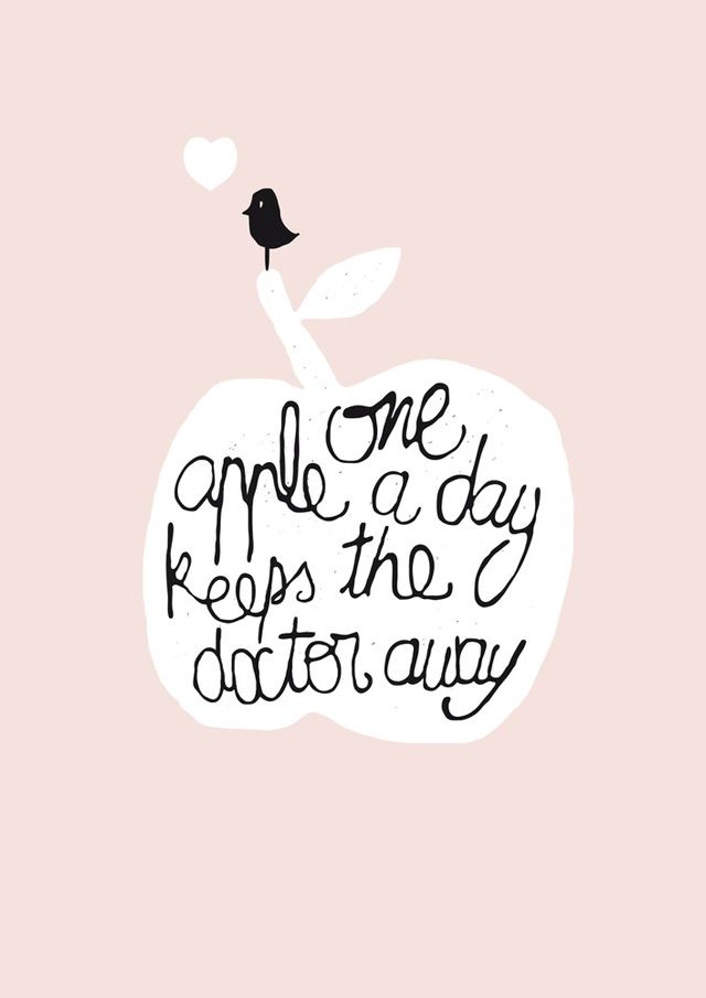 illustration One Apple by Petitsweet.bigcartel.com