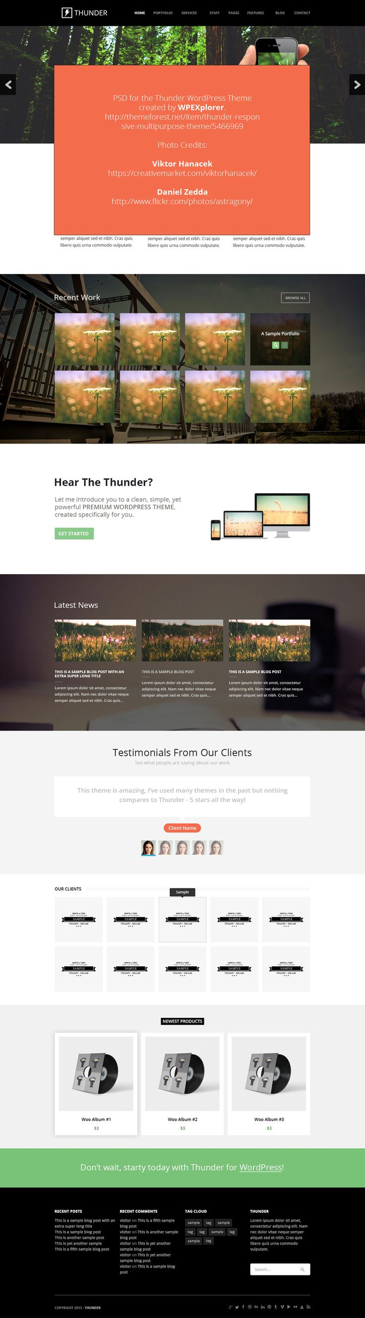 Thunder – Free Web Template