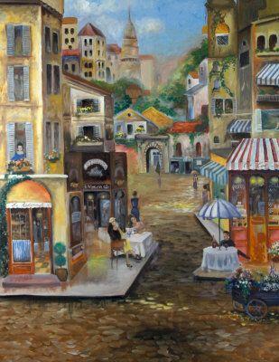 Famous Paintings Of B E Restaurant Street Scene
