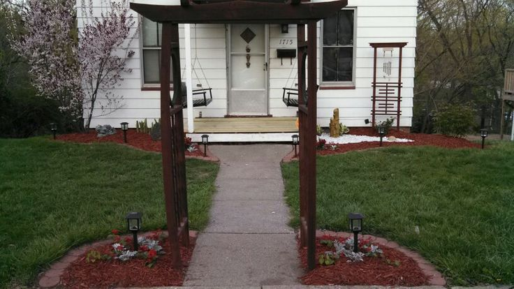 My Asian inspired garden with two porch swings that I did.