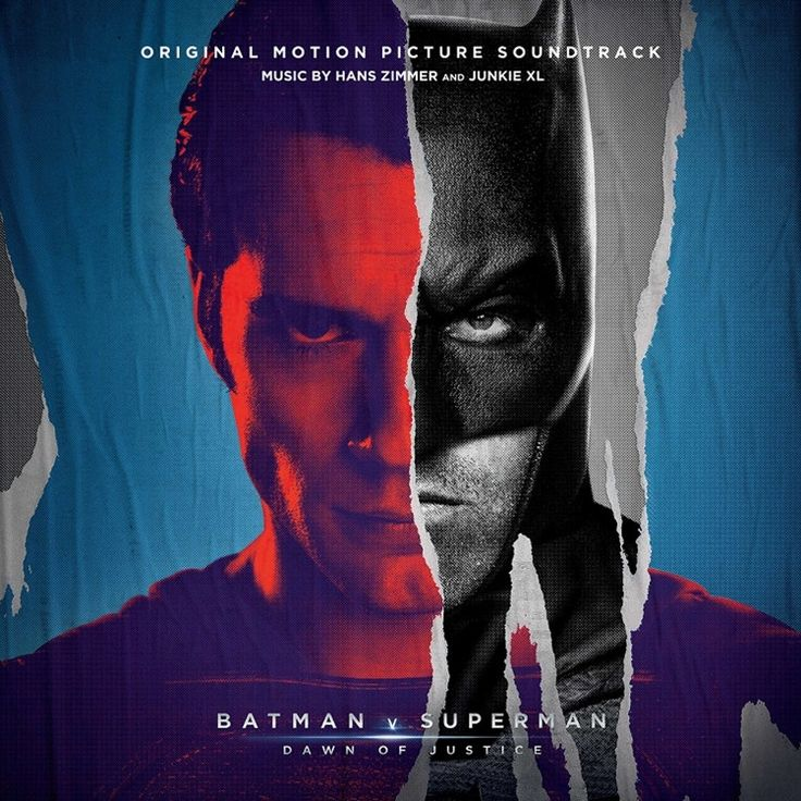 Hans Zimmer And Junkie XL Batman V Superman: Dawn Of Justice Original Motion Picture Soundtrack on Numbered Limited Edition Colored 3LP w/ Etching + Poster + Download