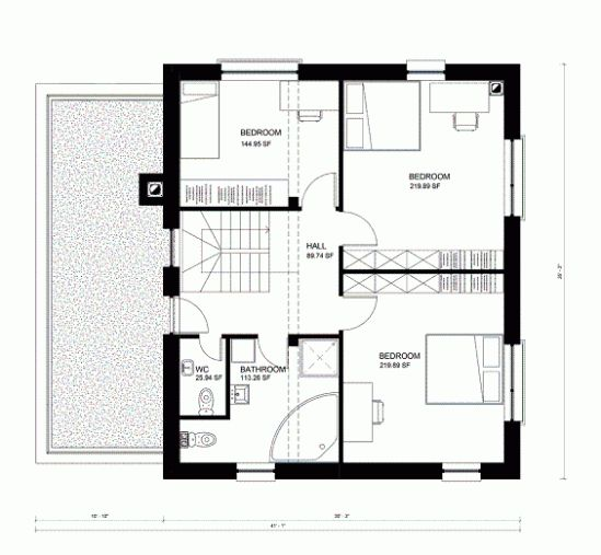 19 best plans for sale images on pinterest square feet for Planos de casas de dos recamaras